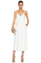 Zimmermann Crepe Reveal Jumpsuit In White