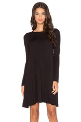 Blq Basiq Long Sleeve Swing Dress Black