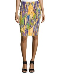 Josie Tboli Printed Draped Pencil Skirt Women's