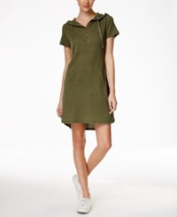 G.H. Bass And Co. Hooded Shirt Dress Jungle