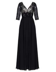 Aftershock Dunston Black Lace Maxi Dress Multi Coloured