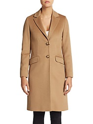 Cinzia Rocca Due Virgin Wool Boyfriend Coat Camel