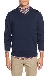 Men's Bonobos Slim Fit Merino Wool V Neck Sweater Navy