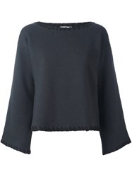 See By Chloe Whipstitch Detail Jumper Grey