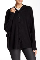 Lulu Hooded Dolman Cardigan Black