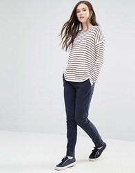 Vila Classic Skinny Trousers In Navy Total Eclipse
