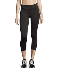 Nux Ibiza Fold Over Microfiber Leggings Black