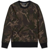 Rag And Bone Camo Crew Knit Green