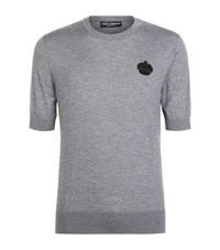 Dolce And Gabbana Embellished Crown Cashmere T Shirt Male