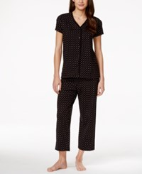 Charter Club Petite Print Pajama Set Only At Macy's Black Duo Dot