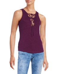 Free People Emmylou Lace Up Tank Red