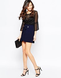 Tfnc Lyn Skirt With Rope Lace Up Detail Navy