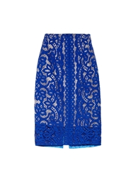 Lover Poppy Macrame Lace Pencil Skirt