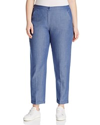 Marina Rinaldi Rio Chambray Ankle Pants Sky Blue