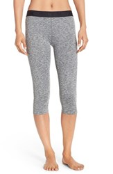Hurley Women's Dri Fit Crop Leggings Heather Grey