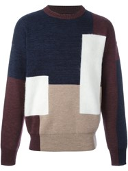 Oamc Colour Block Jumper Red