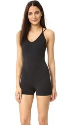 Free People Movement Zone In Bodysuit Black