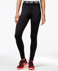 Energie Active Juniors' Hallie High Waist Yoga Leggings Caviar