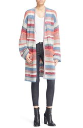 Zadig And Voltaire Women's Zadig And Voltair 'Celia' Stripe Open Knit Long Cardigan