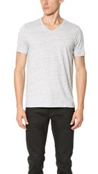 Club Monaco Joe V Neck Tee Heather Grey