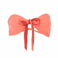 Lilliput And Felix Rosa Bandeau Bikini Top In Hot Coral Pink Purple
