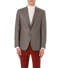 Gieves And Hawkes Regular Fit Cashmere Jacket Brown