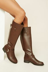 Forever 21 Tall Faux Leather Boots
