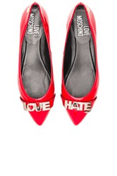 Love Moschino Hate Flat Red