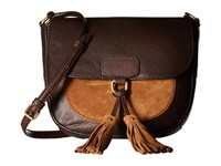 Frye Clara Saddle Dark Brown Soft Vintage Leather Suede Handbags