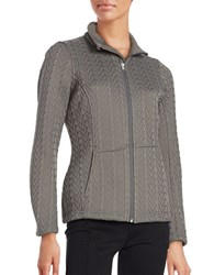 Spyder Cable Knit Zip Front Jacket Weld