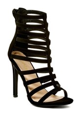 Liliana Nikia Strappy Heel Black