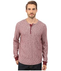 Lucky Brand Twisted Slub Henley Red Men's T Shirt