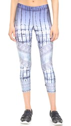 Zara Terez Dip Dye Patchwork Performance Capri Leggings Multi