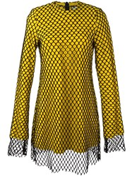 Marques Almeida Marques'almeida Mesh Overlay Dress Yellow And Orange