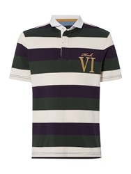 Howick Staxton Striped Short Sleeve Rugby Violet