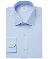 Brooks Brothers Extra Slim Fit Non Iron Pinpoint Solid Dress Shirt Light Blue
