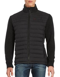 Strellson Knit Accented Puffer Jacket Black