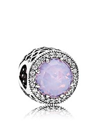 Pandora Design Charm Sterling Silver Cubic Zirconia And Glass Radiant Hearts Moments Collection