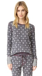 Pj Salvage Nordic Nostalgia Top Charcoal