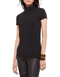 Lauren Ralph Lauren Jersey Short Sleeve Turtleneck Black