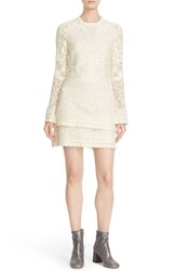 See By Chloe Women's Floral Crochet Lace Popover Dress Off White