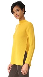 Whistles Anderson Side Split Sweater Yellow
