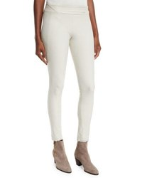 Stretch Knit Skinny Pants White Smoke