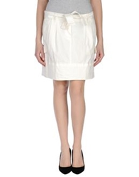 Amy Gee Mini Skirts White