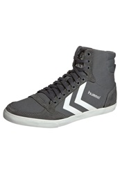 Hummel Slimmer Stadil High Hightop Trainers Castle Rock White Dark Gray