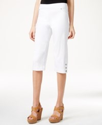 Styleandco. Style And Co. Pull On Skimmer Shorts Only At Macy's Bright White