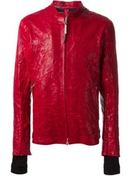 Isaac Sellam Experience Crinkled Effect Leather Jacket Red