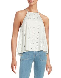Free People Dream Eyelet Halter Top Ivory