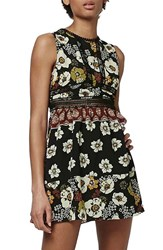 Petite Women's Topshop Crochet Trim Patchwork Sundress