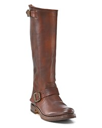 Frye Veronica Slouch Tall Boots With Extended Calf Dark Brown